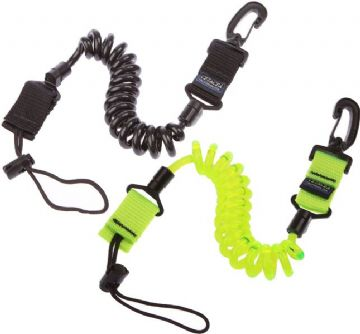 Cetacea - Coil Lanyard with Locking Attachment Loop and Strong Clip - Ideal for Small Torches etc